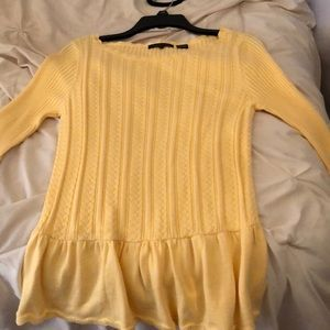 Jeanne Pierre Long sleeve yellow sweater